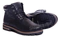 Ботинки кожаные Wrangler Aviator Black