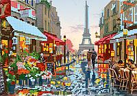 Схема для вышивки бисером POINT ART Париж после дождя, размер 27х19 см