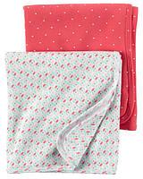 Комплект пеленальных одеял пеленок Carters Сердечки