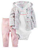 Комплект хлопковый для девочки Carters Бриллиант, Размер 9м, Размер 9м