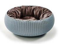 Лежак для животных пластиковый открытый в стиле КТИН 540Х540Х202 мм Curver CR-17202851