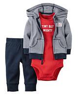 Комплект хлопковый для мальчика Carters Симпотяга, Размер 12м, Размер 12м