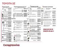 Toyota 1Z, 2Z, 3Z - запасные части на двигатели Тойота