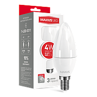 LED лампа MAXUS C37 CL-F 4W 3000K 220V E14 (1-LED-5311)