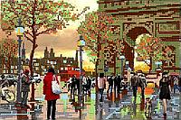 Схема для вышивки бисером POINT ART Мой любимый Париж, размер 27х18 см