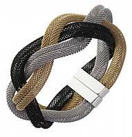 Женский браслет-косичка из стали