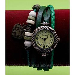 """Женские наручные часы-браслет с бусинами, шнурами и подвесками """"Талат"""", черный"""