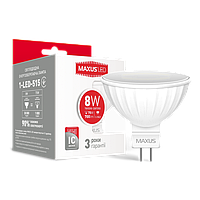 LED лампа MAXUS MR16 8W 3000K 220V GU5.3 (1-LED-515)