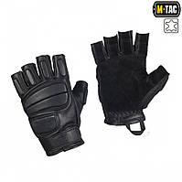 M-Tac перчатки тактические беспалые кожаные Assault Mk.1 черные