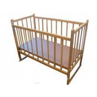 Кроватка детская Наталка Ольха (без лака,простая, регулировка дна,качалка)