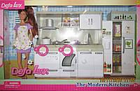 Кукла хозяюшка с кухонным гарнитуром
