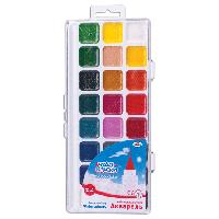 "Краски акварельные ГАММА ""Чудо-краски"" 212077, 24 цв, пласт.коробка с европодвесом, без кисти"