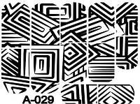 Слайдер дизайн (водна наклейка) для нігтів А-029