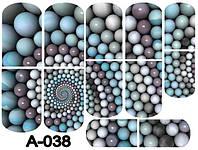 Слайдер дизайн (водная наклейка) для ногтей А-038