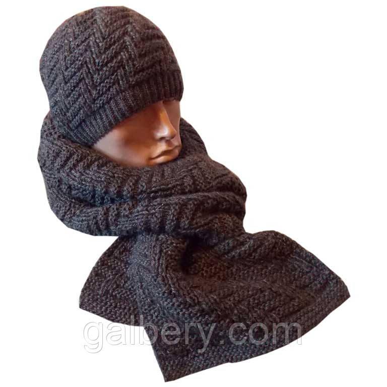 Зимняя шапка и шарф ручной работы