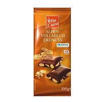 Молочный шоколад Fin Carre Alpen- Vollmilch Mandel- с альпийским молоком и дробленым миндалем