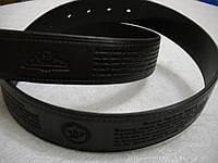 Ремень кожаный, черный с молитвой снаружи. Размер: длина 1200-1350 мм. ширина 35- 40 мм