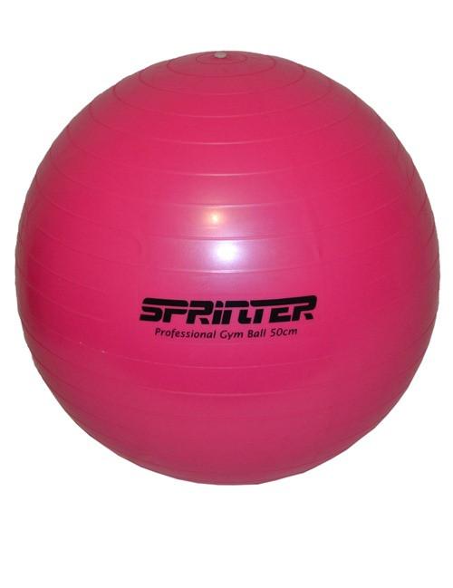 """Мяч для фитнеса """"GYM BALL"""" розовый 50 см (700г)"""