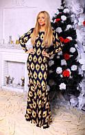 Длинное нарядное платье коттон с принтом сердца размеры: 42, 44, 46, 48