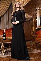 Классическое вечернее платье, чёрное