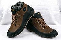 Ботинки зимние Ecco кожаные
