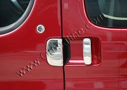Накладки на ручки (3 шт, нерж) - Peugeot Partner (2004-2008)