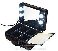 Профессиональная мобильная мини-студия для визажиста с освещением для зеркала