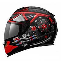 """Шлем MT LIGHTNING POWER HOUSE black\red """"L"""", арт. 063-60"""