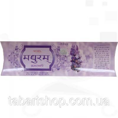 Аромапалочки Лаванда, Madhuram Lavender Agarbatti Patanjali, 25 гр