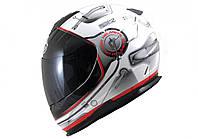 "Шлем MT LIGHTNING STRATOSPHERE  white\black ""L"", арт. 066-10"