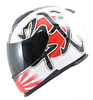 "Шлем MT LIGHTNING BATTLE white\black\red ""L"", арт. 066-50"