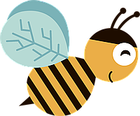 Наклейка на ткань Пчелка [7 размеров в ассортименте]