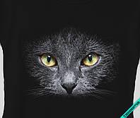 Аппликация, наклейка на ткань Кошка черная [7 размеров в ассортименте]
