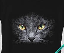 Термоперевод для бизнеса на ветровки Кошка черная [7 размеров в ассортименте]