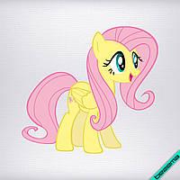 Аппликация, наклейка на ткань Pony желтая [7 размеров в ассортименте]