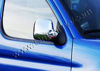 Накладки на зеркала (2 шт, пласт) - Peugeot Partner (2004-2008)