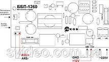 ББП-1260-А, блок бесперебойного питания 12В 5А под аккумуляторную батарею 12В 7А/ч, фото 3