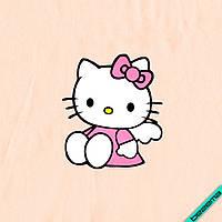 Аппликация, наклейка на ткань Hello Kitty ангелочек [7 размеров в ассортименте]