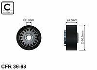 Натяжной ролик ремня генератора (с шестреней, 56x24) 1.2 —Caffaro (Польша) - CFR36-68