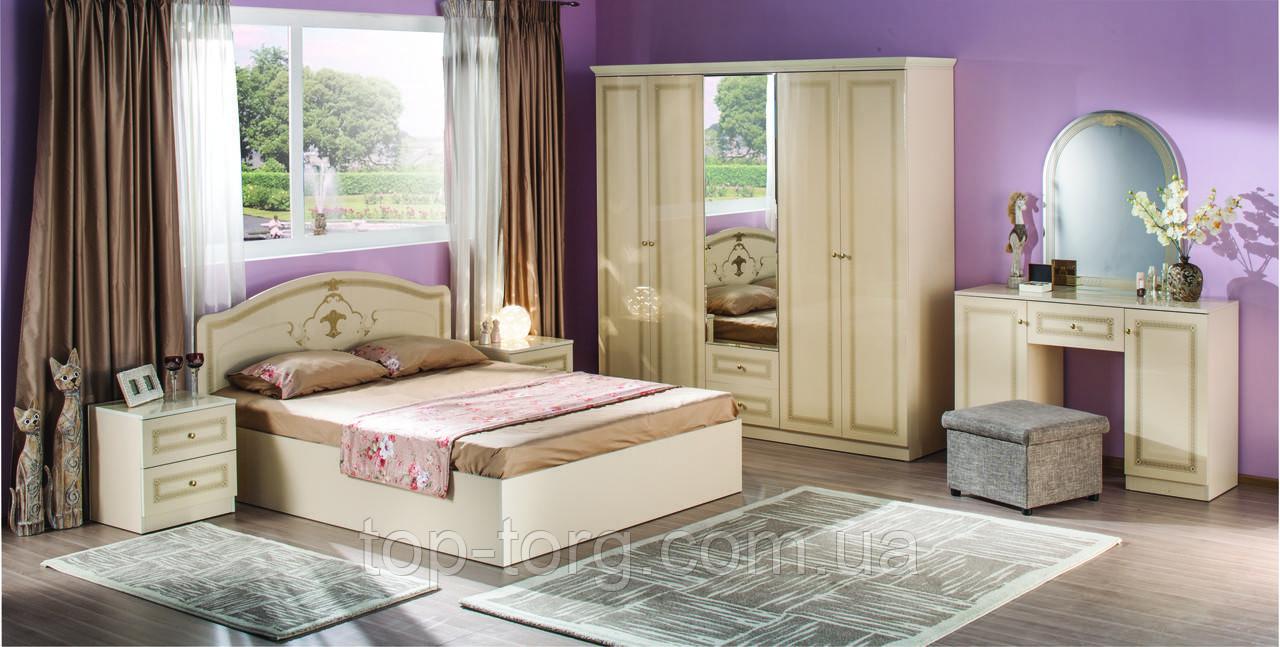 Спальня Стелла крем, белый. Комплект