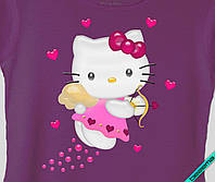 Картинки на челочно-носочные изделия Hello Kitty сердце [7 размеров в ассортименте]