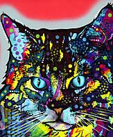 Термоперевод на текстиль для дома Цветной кот [7 размеров в ассортименте]