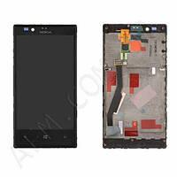 Дисплей (LCD) Nokia 720 Lumia с сенсором черный оригинал + рамка