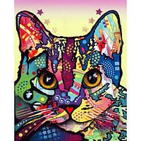 Наклейка на ткань Задумчивый кот [7 размеров в ассортименте]