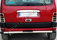 Накладка на стопы (2 шт, нерж) - Peugeot Partner (2004-2008)