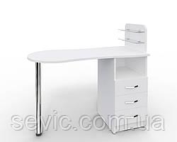 """Маникюрный стол cо стеклянными полочками под лак """"Эстет  №1"""""""