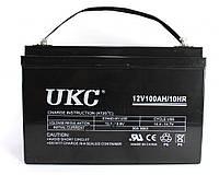 Гелевый аккумулятор 100 Ач UKC 12V, необслуживаемый, герметичная конструкция, длительный срок службы