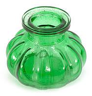 Колба для кальяна стекло зеленая (8х10х10 см)(внутренний d-4 см)