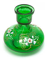 Колба для кальяна стекло зеленая(13,5х13х13 см d-4 см)