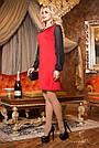 Красное нарядное платье женское, размеры от 44 до 50, трикотаж джерси, фото 2